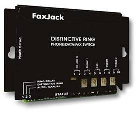FaxJack Distinctive Ring and Auto Detect Switch